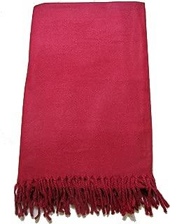 Tibetan Meditation Shawl 100% Yak Wool Handloom, Maroon