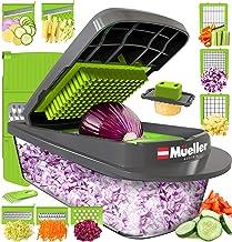 Mueller Austria Pro-Series Onion Chopper, Slicer, Vegetable Chopper, Cutter, Dicer, Spiralizer Vegetable Slicer with Conta...