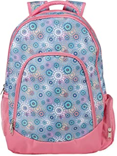 Reinforced and Water Resistant Padded Laptop School Backpack (Periwinkle Circle Dot)