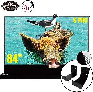 VIVIDSTORM S PRO Ultra Short Throw Laser Projector Screen,Black Housing Motorized Floor Rising Screen 84 inch Ambient Ligh...