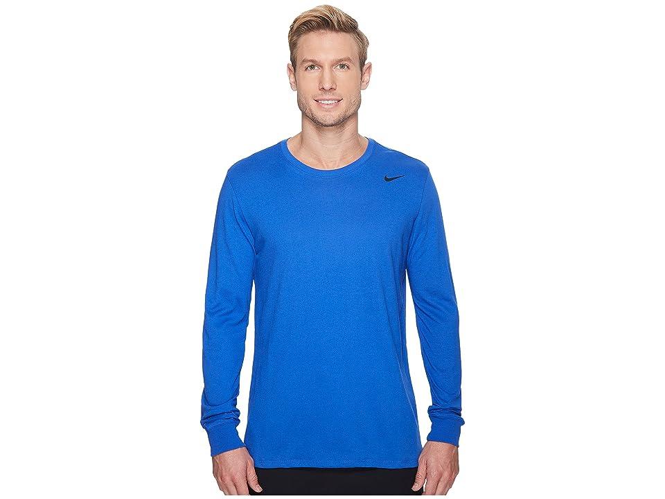 Nike Dry Training Long Sleeve T-Shirt (Game Royal/Game Royal/Black) Men