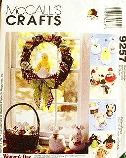 McCall's 9257 Crafts Sewing Pattern Bunny Chick Santa Mrs. Claus Seasonal Dolls