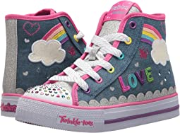SKECHERS KIDS - Twinkle Toes: Shuffles 10874L Lights (Little Kid/Big Kid)