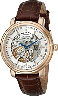 Men's gs90505/06 Analog Display Swiss Automatic Brown Watch