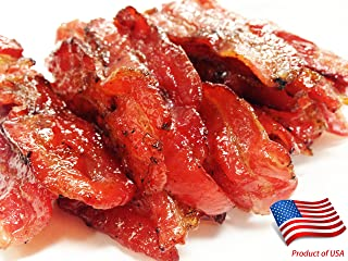 """Made to Order Fire-Grilled Asian Bacon Jerky (Original Flavor - 12 Ounce) aka Singapore Bak Kwa - Los Angeles Times """"Handmade Gift"""" Winner"""
