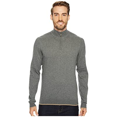 Agave Denim Latitude Long Sleeve 1/4 Zip 14GG Sweater (Gunmetal) Men