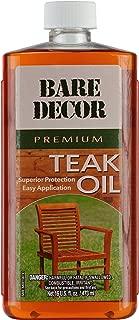 Bare Decor Premium Golden Teak Oil for Home and Marine Use, 16oz