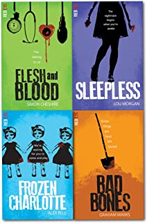 Red Eye Series 4 Books Collection Set Flesh and Blood, Sleepless, Bad Bones, Frozen Charlotte by Simon Cheshire (7-Jul-1905) Paperback