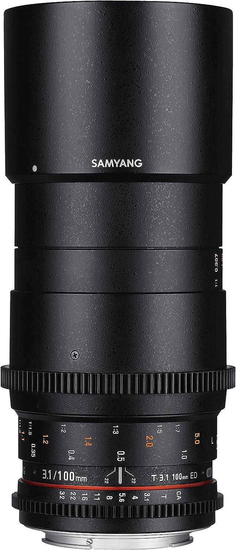 Samyang VDSLR II 100mm T3.1 ED Portland Mall Max 41% OFF Macro UMC Frame Full Ci Telephoto