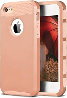 Ailun Phone Case Compatible with iPhone 5s iPhone SE iPhone 5 Soft TPU Bumper Hard Shell Solid PC Back Shock Absorption Anti Scratch Hybrid Dual Layer Slim Cover Gold
