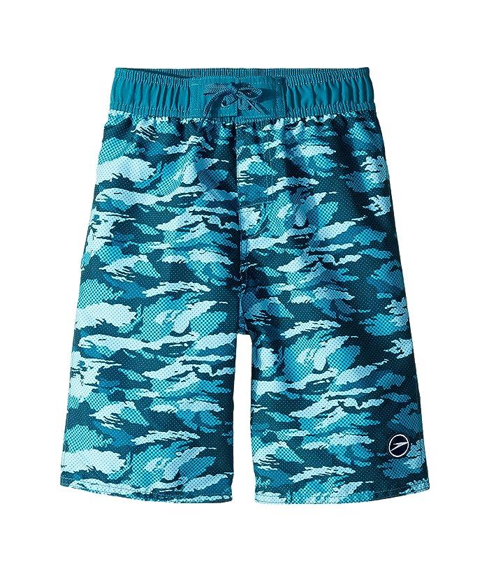 Speedo Kids  Crush It Camo Comfort Liner Volley (Little Kids/Big Kids) (Ocean Depths) Boys Swimwear