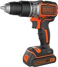 BLACK+DECKER BL188K1B-QW - Taladro percutor Brushless 18V, 2 baterías litio 1.5Ah y cargador de 1Ah