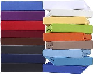 leevitex Drap-housse Comfort pour lit à eau et lit à sommier tapissier - 100 % jersey de coton mako - Certifié Öko-Tex - 1...