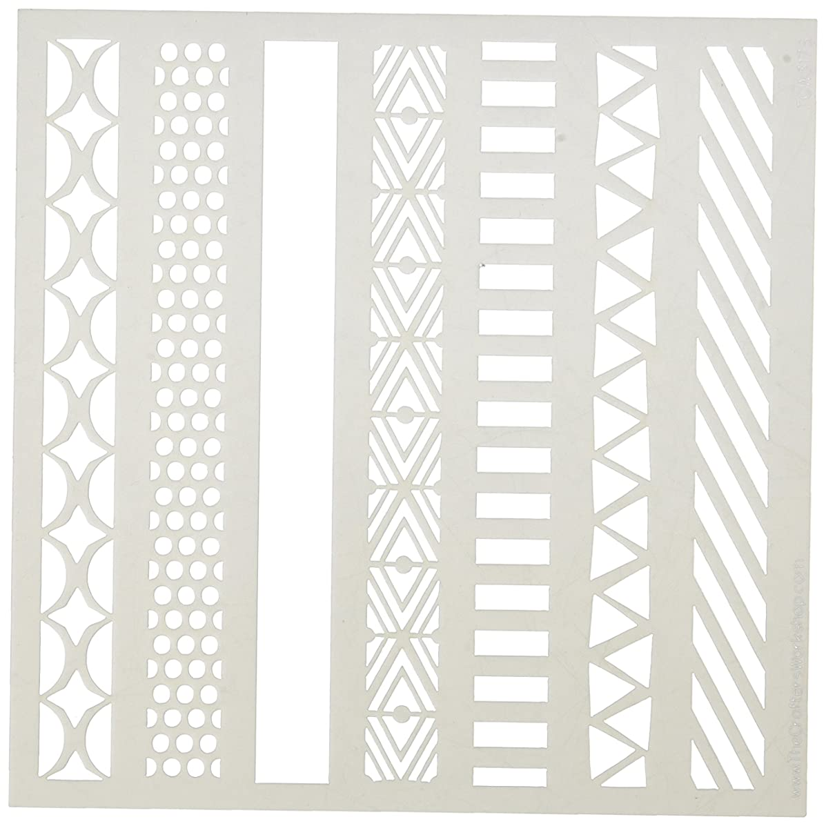 CRAFTERS WORKSHOP The TCW317S Stencil 6x6 Pattern Strips Stencil 6x6 Pattern Strips