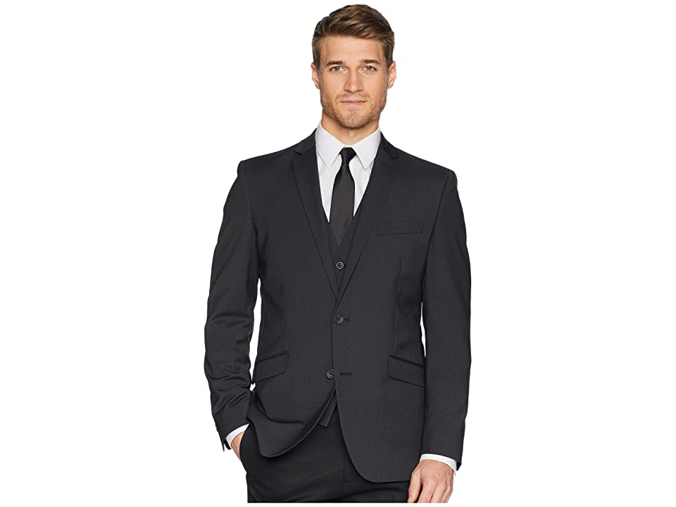 Kenneth Cole Reaction Techni-Cole Stretch Suit Separate Blazer (Grey/Black Check) Men