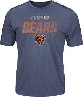 Chicago Bears Men's All The Way Heathered Navy Blue Coolbase Drifit Cool Base Dri-Fit T-Shirt