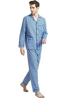 Sponsored Ad - GLOBAL Men's Pajamas Sets 100% Cotton Flannel Sleepwear Long-Sleeve top & Bottom