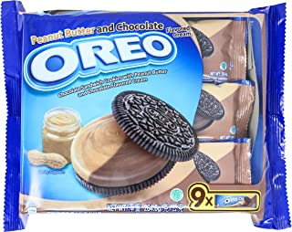 Oreo Peanut and Chocolate Cookies, 29.4g (Pack of 9)