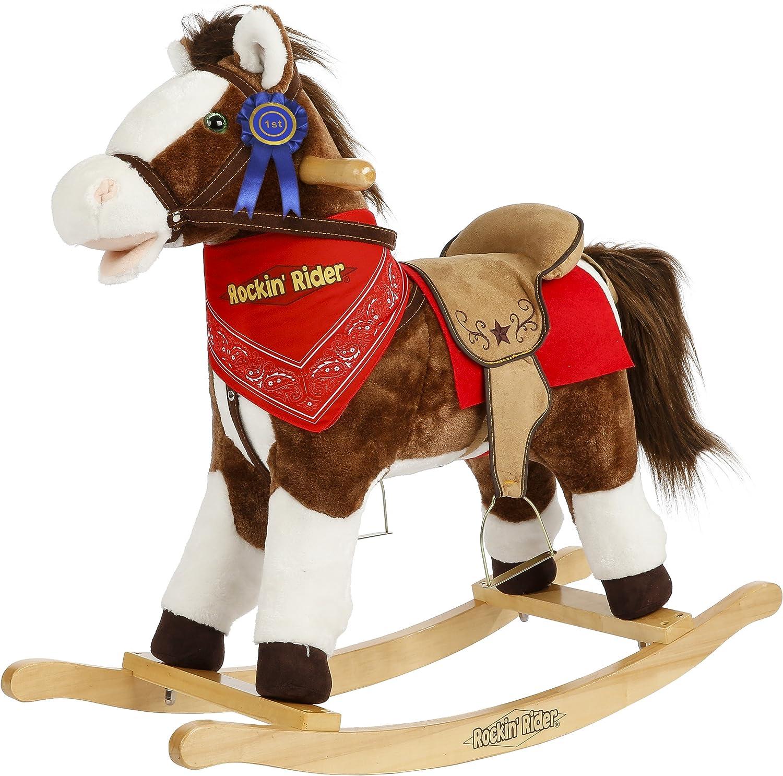 Rockin' Rider Laredo Rocking Horse Ride On Brown