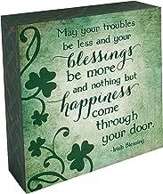 Abbey Gift Irish Blessings 2 Sided Block