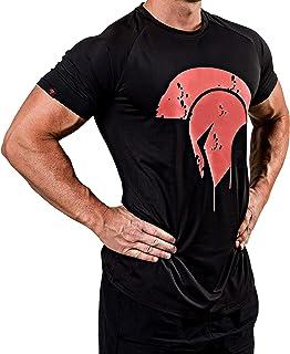 Satire Gym Fitness T-Shirt Herren - Funktionelle Sport Bekleidung mit Sparta Motiv - Geeignet Für Workout, Training & Spartaner - Slim Fit