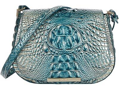 Brahmin Ombre Melbourne Small Nadine Crossbody (Petrol) Handbags
