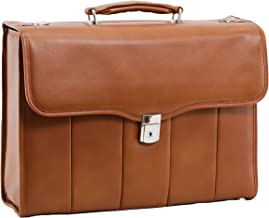 McKlein, I Series, North Park, Full Grain Cashmere Napa Leather, 15 Leather Executive Laptop Briefcase, Brown (46554)