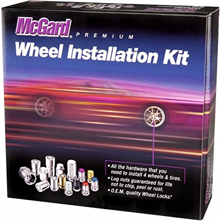 9//16x18 Black - 36 pcs TeraFlex 1051916 Spline Drive Lug Nut Kit