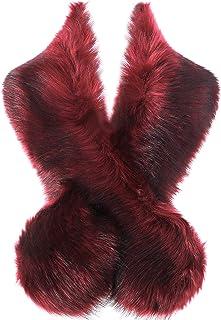 "BABEYOND Womens Faux Fur Collar Shawl Faux Fur Scarf Wrap Evening Cape for Winter Coat 47.2"""