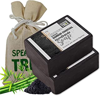 Speaking Tree Specially Formulated and Cold Processed Deodorizing Bamboo Charcoal Handmade Soap 100 gms (Pack of 2) | Cleanse Skin Naturally and A Beautifully Refreshing Aroma