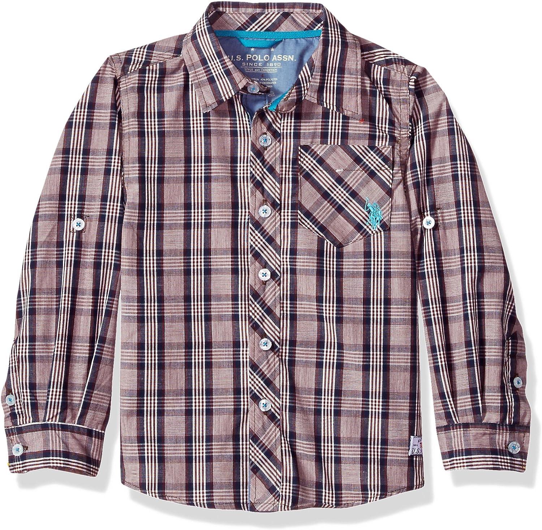 U.S. Polo Assn. Boys' Long Sleeve Plaid Shirt