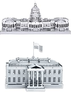 Metal Earth 3D Laser Cut Models - U.S. Capitol Building AND White House = SET OF 2