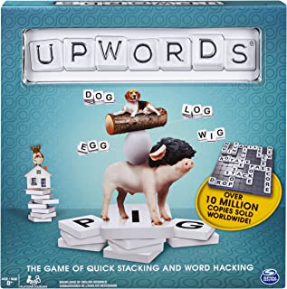 Upwords, Fun & Challenging Family Word Game with Stackable Letter Tiles, for Ages 8 & Up