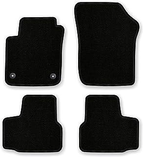 Bär AfC VW04456 Basic Auto Fußmatten Nadelvlies Schwarz, Rand Kettelung Schwarz, Set 4 teilig, Passgenau für Modell Siehe Details