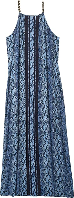 Plus Size Border Maxi Dress