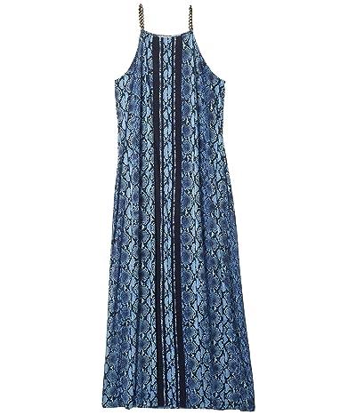 MICHAEL Michael Kors Plus Size Border Maxi Dress (Chambray) Women