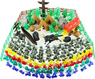 Boley Wild West Cowboys and Indians Bucket - 180 Piece Set Includes Miniature Plastic Toy Figurines and Assorted Accessories - Educational Lootbox to Teach Kids About The Wild West!