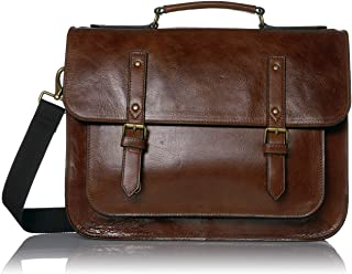 Fossil Men's Leather Messenger Briefcase Work Laptop Bag
