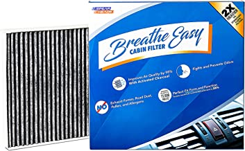 Spearhead Premium Breathe Easy Cabin Filter, Up to 25% Longer Life w/Activated Carbon (BE-176)