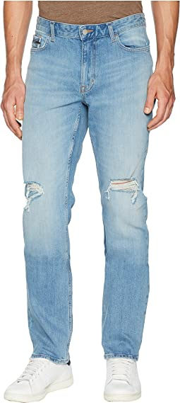Slim Straight Fit Jeans in Divisadero Blue Wash