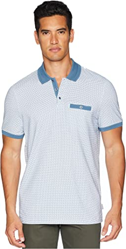 Sloughi Short Sleeve Geo Print Polo