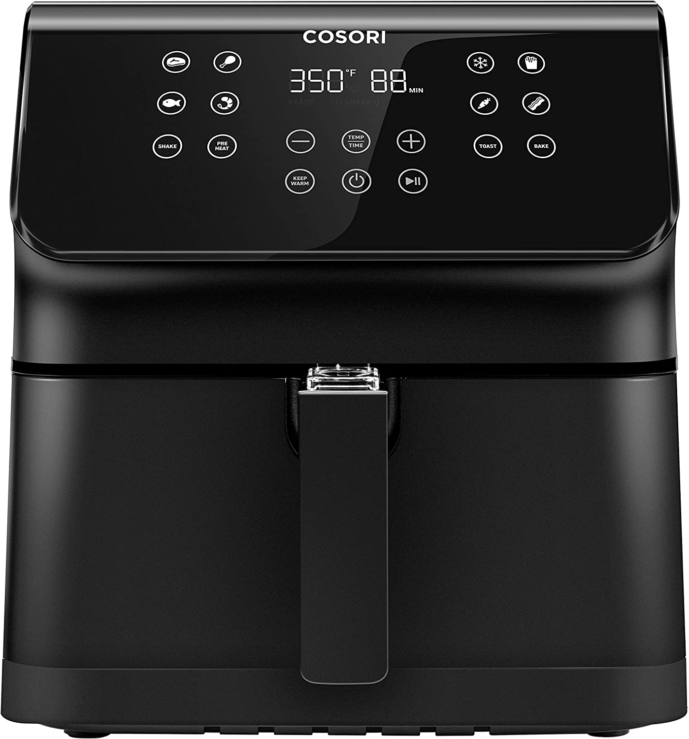 COSORI Air Fryer(100 Recipes), 12-in-1 Large XL Air Fryer Oven with Upgrade Customizable 10 Presets, Preheat, Shake Reminder, Digital Hot Oilless Cooker, 5.8QT, Black