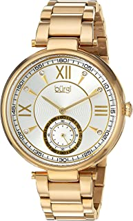 Burgi Women's Quartz Watch with Stainless-Steel Strap, Gold, 10 (Model: BUR175YG