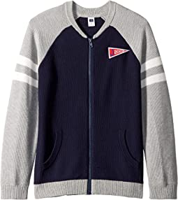 Raglan Zip Cardigan (Toddler/Little Kids/Big Kids)