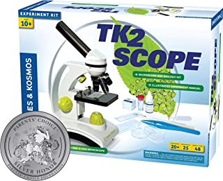 Thames and Kosmos TK2 Scope Biology and Durable Metal Microscope Set with Glass Optics, 25 Experiments and 48 Page full co...