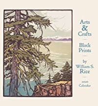 Arts & Crafts Block Prints: Wm. S. Rice 2020 Wall Calendar