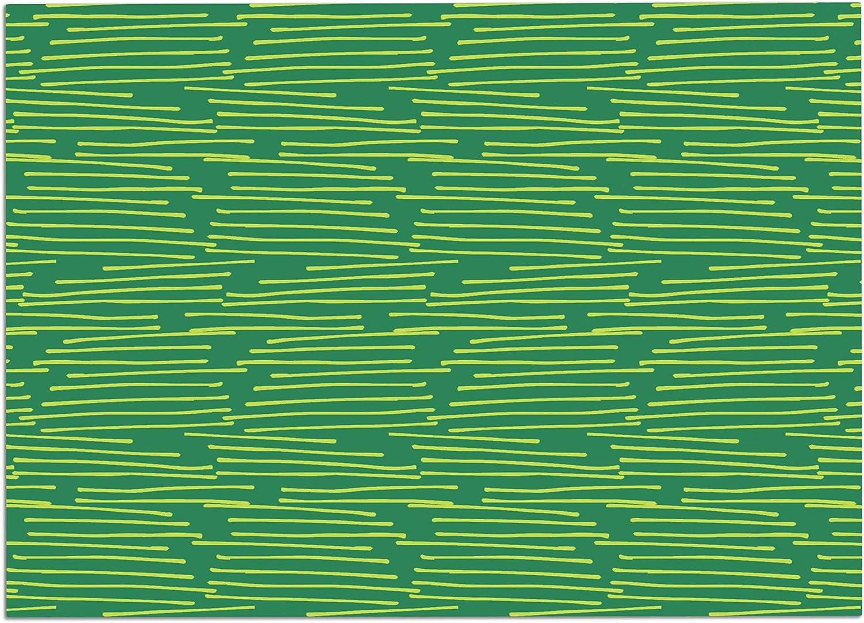 KESS InHouse HH1020ADM02 Holly Helgeson Twiggy Green Line Dog Place Mat, 24  x 15