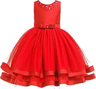 Glamulice Women's Mother's Day Vintage Floral Lace Dress Swing Cocktail A-Line Party Dresses