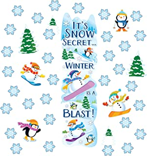 EUREKA Winter Season School and Classroom Door Décor Kit, 33pc
