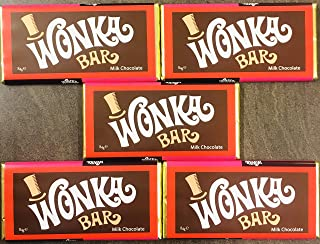 Wonka Bar - 5 x 84g Bars - Willy Wonka Bar - Milk Chocolate - Charlie and The Chocolate Factory…